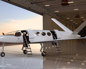 Eviation's Alice fixed wing electrically powered aircraft.