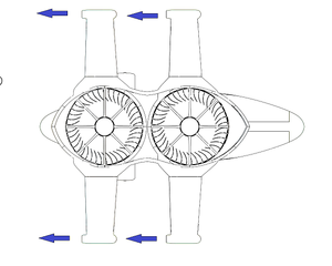Jetcopter's centrifugal air turbine concept