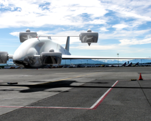 Sabrewing Rhaegal RG-1 hybrid-electric cargo drone.