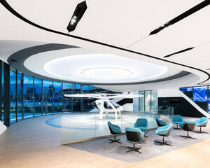 Volocopter's Air Taxi Voloport Interior