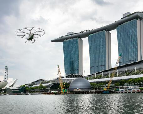 Volocopter VoloCity flies in Singapore