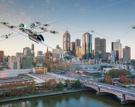 Embraer Eve eVTOL in Melbourne