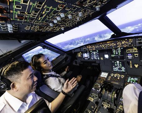 CAE flight training
