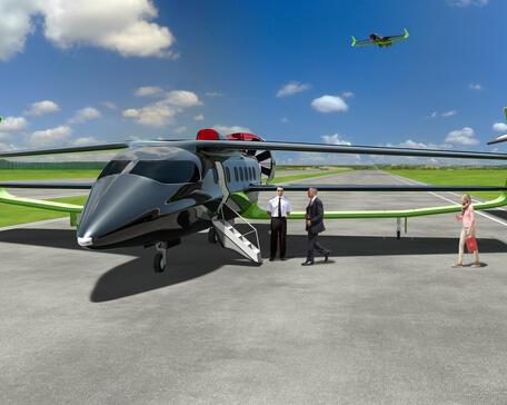 Faradair Bio Electric Hybrid Aircraft