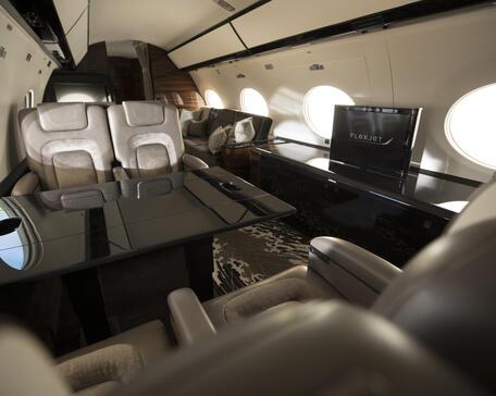 Flexjet Gulfstream G650 interior