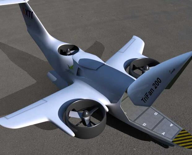 Rendering of proposed TriFan 200