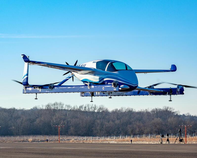 Boeing NeXt Passenger Air Vehicle during flight testing.